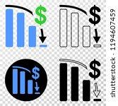 bankruptcy bar chart eps vector ...   Shutterstock .eps vector #1194607459