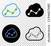 cloud chart eps vector...   Shutterstock .eps vector #1194607480