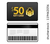 a  50 gift card  front and back ... | Shutterstock .eps vector #119462056