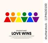 lgbt community poster design...   Shutterstock .eps vector #1194630100