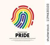 lgbt community poster design...   Shutterstock .eps vector #1194630103