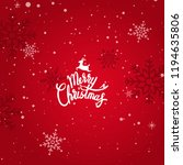 merry christmas holiday design... | Shutterstock .eps vector #1194635806