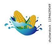 sweet corn healthy natural in... | Shutterstock .eps vector #1194639049