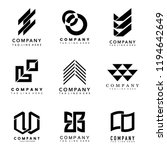 set of company logo design... | Shutterstock .eps vector #1194642649
