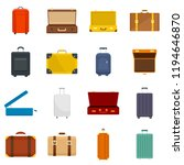 suitcase travel luggage bag...   Shutterstock . vector #1194646870