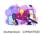 designers work on new brand and ... | Shutterstock .eps vector #1194647020