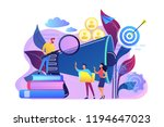 businessman look with magnifier ... | Shutterstock .eps vector #1194647023