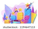businessmen climb growth column ... | Shutterstock .eps vector #1194647113
