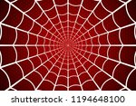 Spider Web. Cobweb On Red...