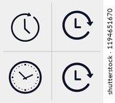 time icon  clock icon vector... | Shutterstock .eps vector #1194651670