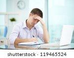 portrait of young businessman... | Shutterstock . vector #119465524
