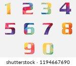 abstract vector numbers in flat ... | Shutterstock .eps vector #1194667690