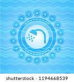 shower icon inside sky blue... | Shutterstock .eps vector #1194668539