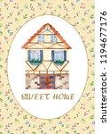 sweet home. watercolor... | Shutterstock . vector #1194677176