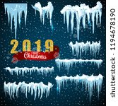 snow ice icicle set winter... | Shutterstock .eps vector #1194678190