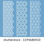 vector set of line borders with ... | Shutterstock .eps vector #1194680410