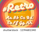 vector retro alphabet design.... | Shutterstock .eps vector #1194681340