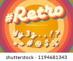 vector retro alphabet design.... | Shutterstock .eps vector #1194681343