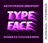 abstract alphabet typeface.... | Shutterstock .eps vector #1194686620