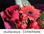 red flowers bouquet | Shutterstock . vector #1194693646