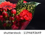 red flowers bouquet | Shutterstock . vector #1194693649
