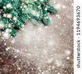 christmas wooden background... | Shutterstock . vector #1194693670