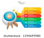 infographic design vector and ... | Shutterstock .eps vector #1194695980