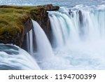 waterfall godafoss  iceland.... | Shutterstock . vector #1194700399