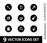 vector filled icons such as... | Shutterstock .eps vector #1194705073