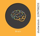 human internal organ brain on... | Shutterstock .eps vector #1194708253