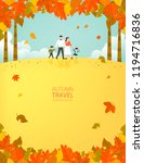 autumn travel illustration | Shutterstock .eps vector #1194716836