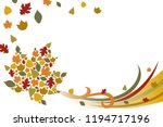 a vector illustration of fall...   Shutterstock .eps vector #1194717196
