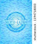 moth eaten sky blue emblem with ... | Shutterstock .eps vector #1194718003