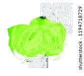 green brush stroke and texture. ... | Shutterstock .eps vector #1194718729