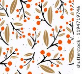seamless pattern with floral... | Shutterstock .eps vector #1194719746