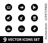volume icon. collection of 9... | Shutterstock .eps vector #1194719800
