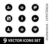 member icon. collection of 9... | Shutterstock .eps vector #1194720616