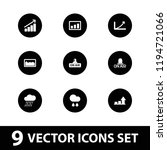 forecast icon. collection of 9...   Shutterstock .eps vector #1194721066