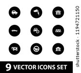 automobile icon. collection of... | Shutterstock .eps vector #1194721150
