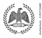 logo of the roman eagle. | Shutterstock .eps vector #1194722680