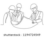 continuous line drawing... | Shutterstock .eps vector #1194724549