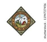wanderlust logo emblem. vintage ...   Shutterstock .eps vector #1194727456