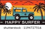 surfing logo emblem. vintage... | Shutterstock .eps vector #1194727516