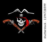 wicked hand drawn vector pirate ...   Shutterstock .eps vector #1194728599