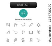 work icons. set of twenty line... | Shutterstock .eps vector #1194730270
