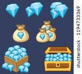 gemstones blue pack | Shutterstock .eps vector #1194733369