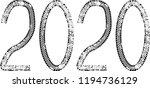 tire tracks . new year 2020.... | Shutterstock .eps vector #1194736129