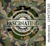 fascinating camouflage emblem | Shutterstock .eps vector #1194737110