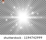 white beautiful light explodes... | Shutterstock .eps vector #1194742999