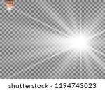 white beautiful light explodes... | Shutterstock .eps vector #1194743023